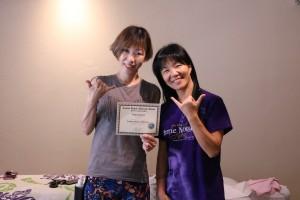 Yurikoさんプライベート講習お疲れ様でした! インストラクターのみささんと