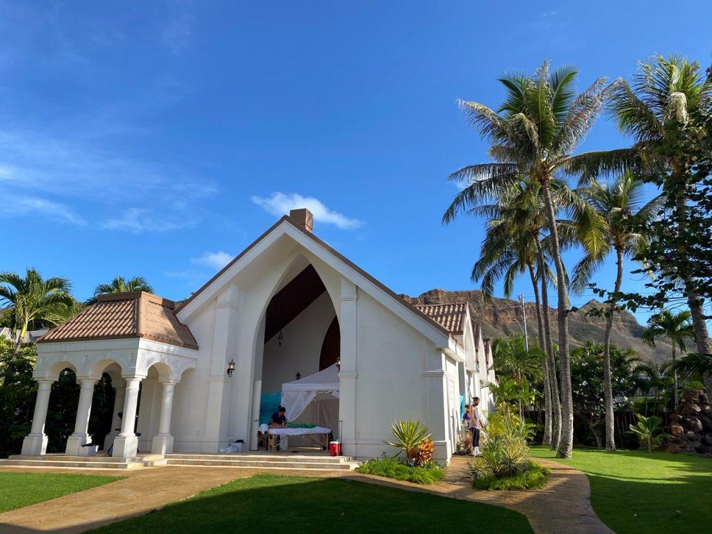 Eines Villa Di Nozze Waikiki Leiaのガーデンスペース
